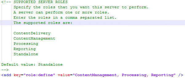 Sitecore 9 update 1 config