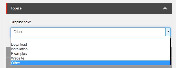 Sitecore UX improve references droplist