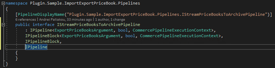 Sitecore Commerce 9: Export Price Books