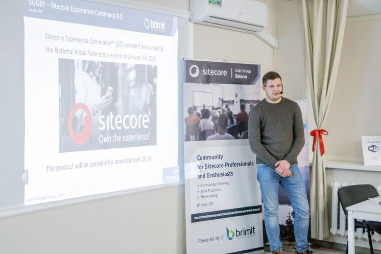 Andrei Ployakov at Meetup in Minsk