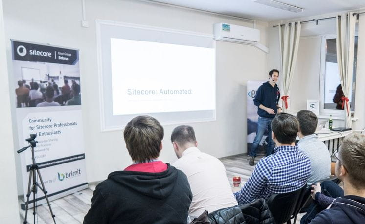 Reto Hugi at Meetup in Minsk